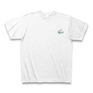 MR.HUGE MINI CROCODILE PRINTED (わに ミニ プリント)Tシャツ ホワイト