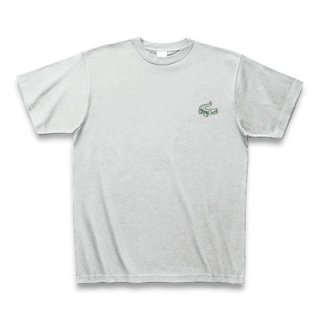 MR.HUGE MINI CROCODILE PRINTED (わに ミニ プリント)Tシャツ グレー