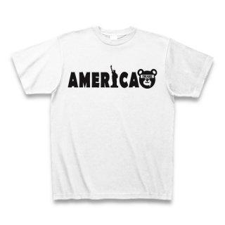 MR.HUGE WORLD TOUR AMERICA BEAR (ワールド ツアー ベア アメリカ プリント) Tシャツ ホワイト