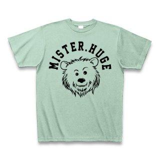 MR.HUGE COOL BEAR LOGO(クールベア)PRINTED Tシャツ アイスグリーン×ブラック