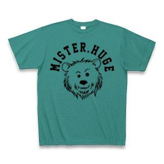 MR.HUGE COOL BEAR LOGO(クールベア)PRINTED Tシャツ ピーコックグリーン×ブラック