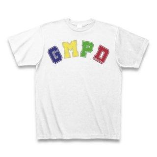 MR.HUGE GMPD LOGO(ジーエムピーディー)PRINTED Tシャツ ホワイト×カラー