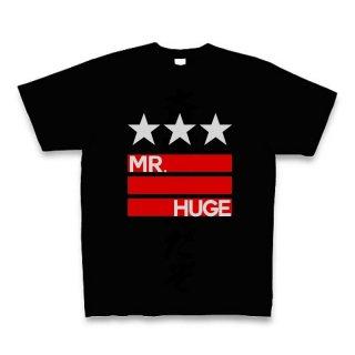 MR.HUGE STAR & LINE IN LOGO(スター&ライン イン ロゴ)PRINTED Tシャツ ブラック