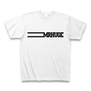 MR.HUGE LINE ROGO(ライン ロゴ) PRINTED Tシャツ ホワイト×ブラック