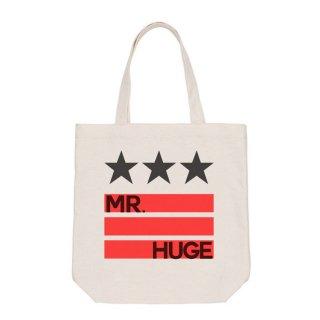 MR.HUGE  STAR & LINE IN LOGO PRINTED CANVAS TOTE BAG(スター&ライン イン ロゴ プリント キャンバス トート バッグ)