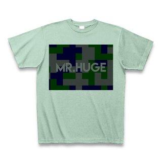 MR.HUGE DEGITAL CAMOFLAGE(デジタル 迷彩) PRINTED Tシャツ アイスグリーン