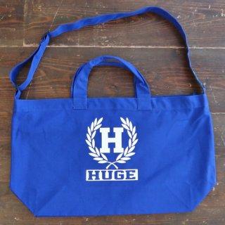 MR.HUGE  H EMBLEM BIG SHOULDER TOTE BAG(Hエンブレム ビッグ ショルダー トート バッグ)ブルー