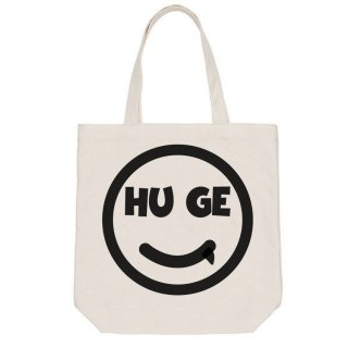 MR.HUGE  SMILE HUGE LOGO PRINTED CANVAS TOTE BAG(スマイル ヒュージ プリント キャンバス トート バッグ)