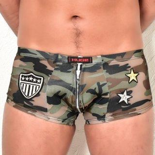 huge ZIP ARMY BOXER PANTS(ジップ アーミー ボクサー パンツ)ブラック