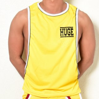 huge HUGE LOGO PIPING SIDE CUT  TANTOP(HUGE ロゴ パイピング サイドカット タンクトップ)イエロー