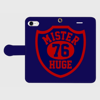 MR.HUGE 76 EMBLEM(76 エンブレム)全面 PRINTED  手帳型 iPhoneCASE