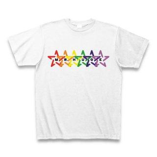 MR.HUGE RAINBOW STAR (レインボー スター)PRINTED Tシャツ ホワイト