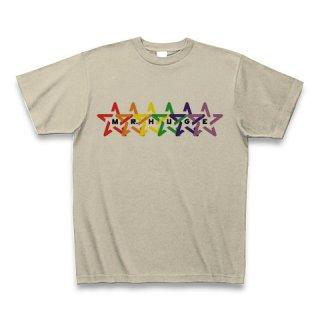 MR.HUGE RAINBOW STAR (レインボー スター)PRINTED Tシャツ シルバーグレー