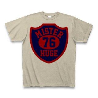 MR.HUGE 76 EMBLEM (76 エンブレム)PRINTED Tシャツ シルバーグレー