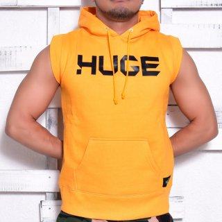 MR.HUGE LOGO CUT OFF  HARF SLEEVE SWEAT(ロゴ カットオフ ハーフ スリーブ スエット)イエロー