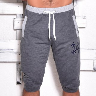 MR.HUGE LOGO BYCOLOR MIDDLE SHORT PANTS(ロゴ バイカラー ミドル ショート パンツ)ダークグレー