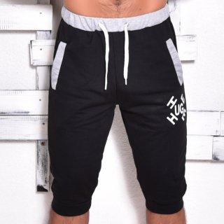 MR.HUGE LOGO BYCOLOR MIDDLE SHORT PANTS(ロゴ バイカラー ミドル ショート パンツ)ブラック