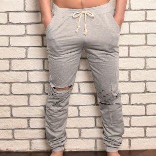 MR.HUGE DAMEGED SWEAT PANTS(ダメージ スエット パンツ)グレー