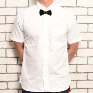 MR.HUGE BOWTIE WAPPEN COTTON HARF SHIRTS(蝶ネクタイ ワッペン コットン ハーフシャツ )ホワイト