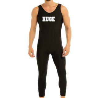 huge STRETCH NOSLEEVE ROGO PRINTED JUMPSUIT(ストレッチ ノースリーブ ロゴ プリント ジャンプスーツ)ブラック