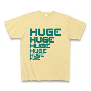 MR.HUGE LINE HUGE ROGO(ライン HUGE ロゴ)PRINTED Tシャツ ナチュラルイエロー