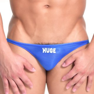huge HUGE ROGO NYLON MINI O-BACK BIKINI(ロゴ ナイロン ミニ Oバック ビキニ)ブルー