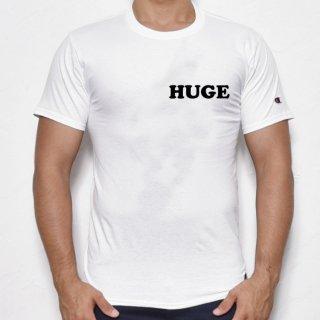 MR.HUGE POP HUGE ROGO PRINTED champion(ポップ HUGE ロゴ チャンピオン)Tシャツ ホワイト