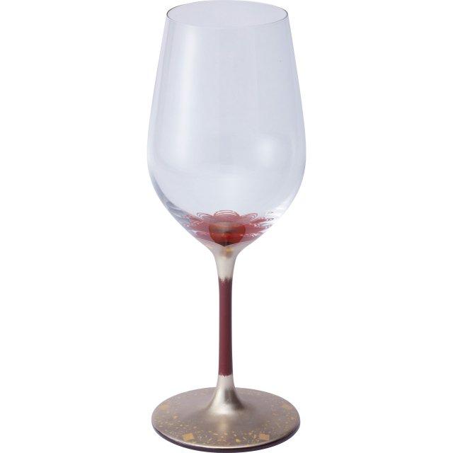 漆絵ワイングラス 梅