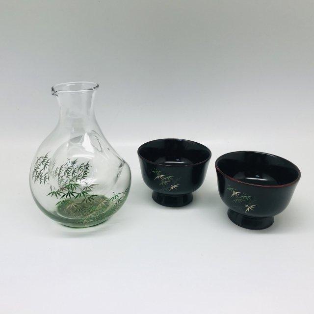 冷酒セット 竹林(盃木製) 【現品のみ】