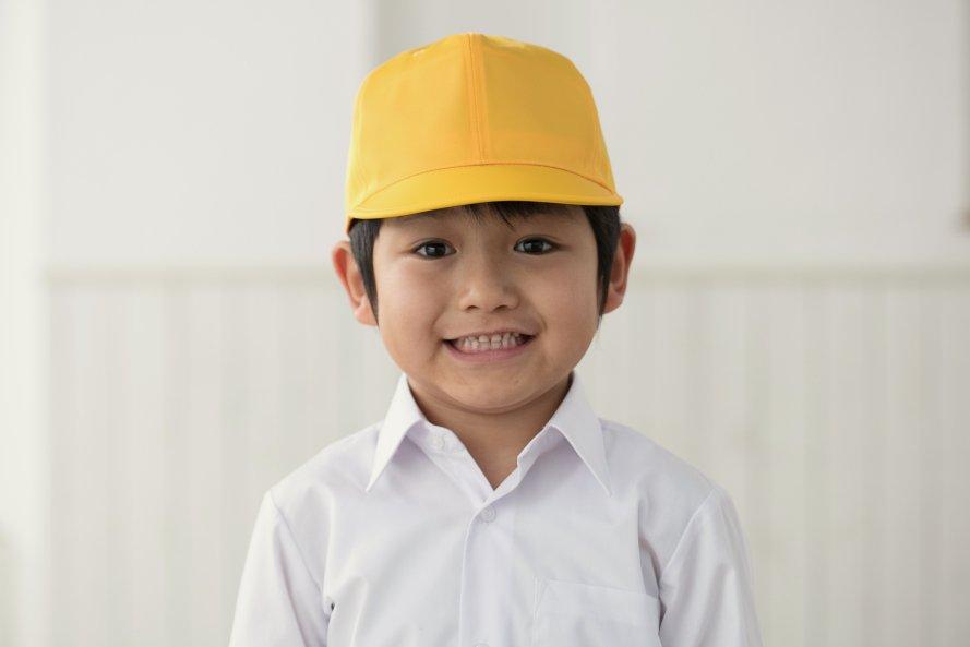 通学用黄色野球帽子 (男の子用)