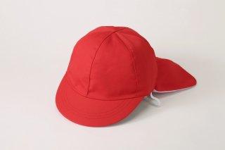 フラップ付き 紅白帽子