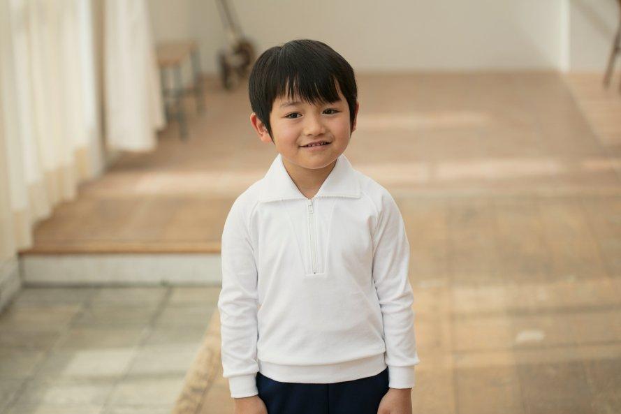 長袖体操服 日本製 ジップ付タイプ[素材]綿100%||