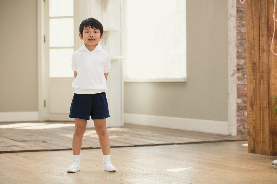 半袖体操服 日本製 ジップタイプ[素材]綿100%||