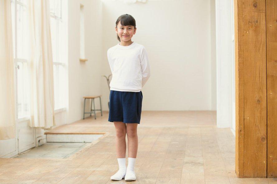 長袖体操服 日本製 丸首タイプ[素材]綿100%||