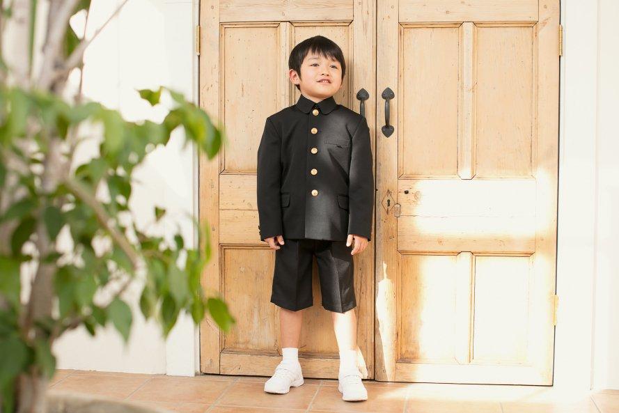 「折襟型」通学服【男の子用/黒色 (ブラック)】