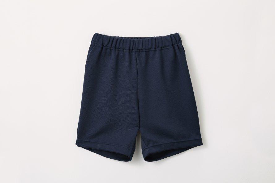 日本製 丈夫な 体操服 ズボン パンツ クオーター丈 (紺/エンジ)[素材]ポリエステル90%|綿10%|