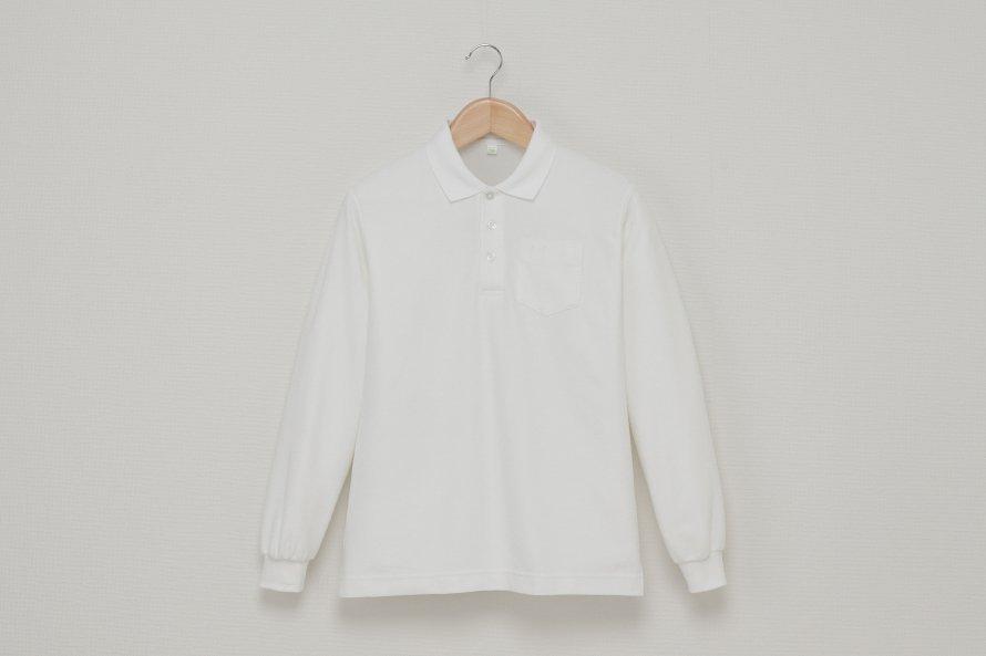 男児 長袖ポロシャツ (吸汗速乾・形態安定)