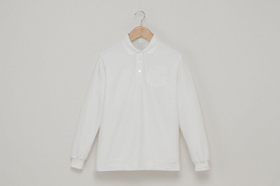 女児 長袖ポロシャツ (吸汗速乾・形態安定)
