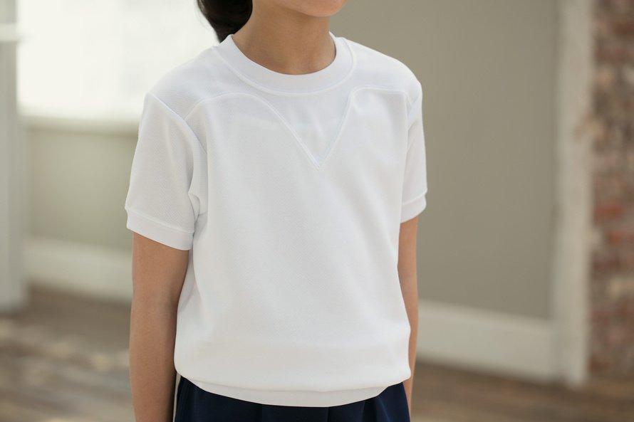 汚れにくい 半袖体操服 切替(ヨーク)タイプ[素材]ポリエステル90%|綿10%|