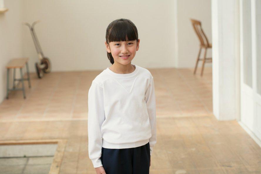 長袖体操服 日本製 切替(ヨーク)タイプ[素材]綿100%||