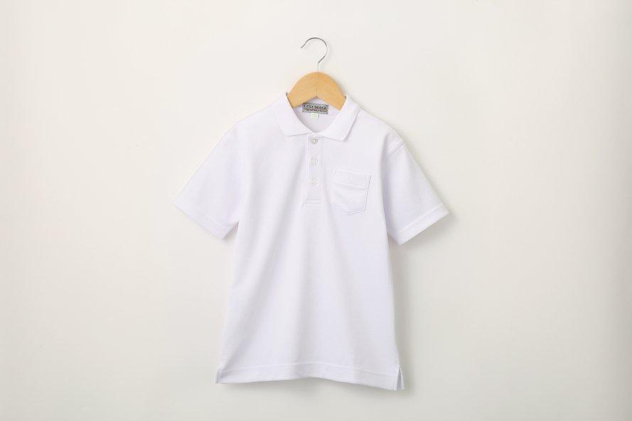 男児 白さ長持ち半袖ポロシャツ (防汚・速乾)