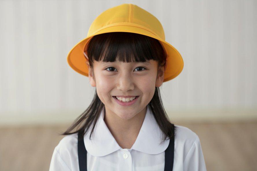 通学用黄色帽子 (女の子用)