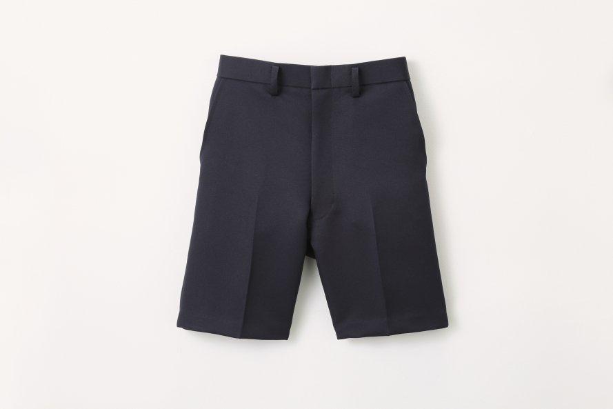 丈長タイプ 夏用半ズボン【紺色 (ネイビー)】[素材]ポリエステル100%||