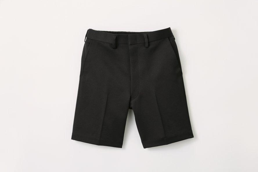 丈長タイプ 夏用半ズボン【黒色 (ブラック)】[素材]ポリエステル100%||