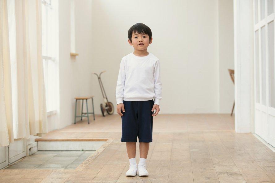 日本製 綿100% 肌に優しい体操服 ズボン パンツ ハーフ丈 【厚手】[素材]綿100%||