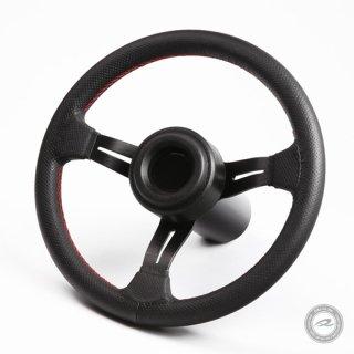 33Ф ディープコーンステアリング<br>50mm 本革製パンチング加工<br>ノスタルジックホーンボタンセット<br>【D33LH】