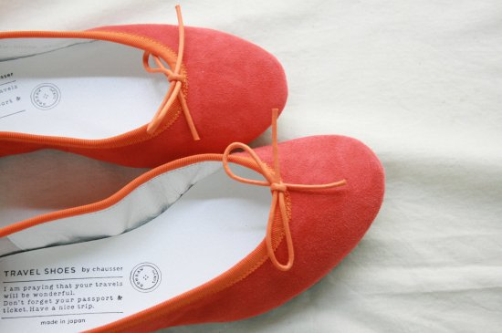 TRAVEL SHOESバレエシューズ〈orange〉