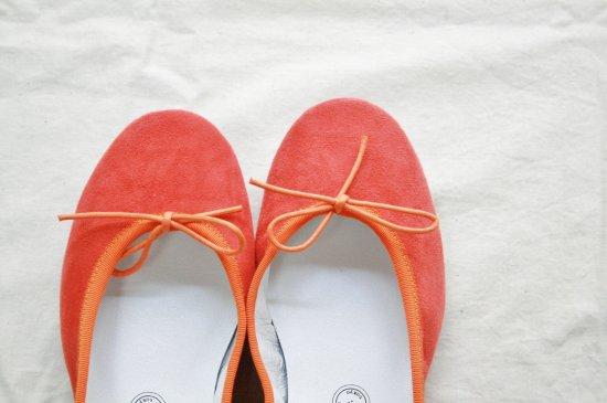 TRAVEL SHOESバレエシューズ〈orange〉
