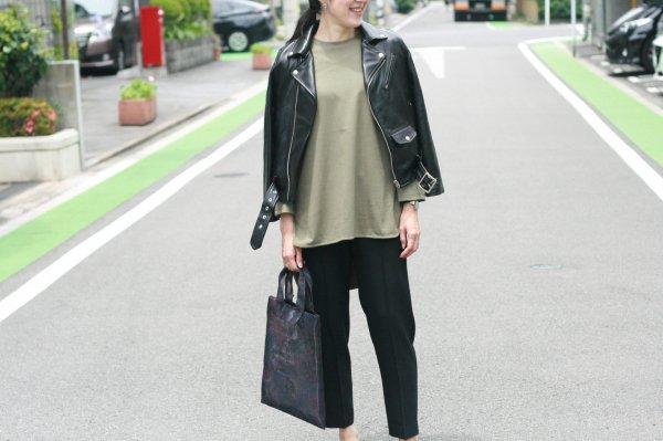 〈beautiful people〉vintage leather riders jacket