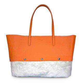 着せ替えトートバッグ「PIECE」Pumpkin (TOP) × Marshmallow (BOTTOM)